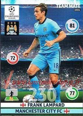 2014-15 - Adrenalyn XL champions League Update edition N° UE056 - Frank LAMPARD (Manchester City)