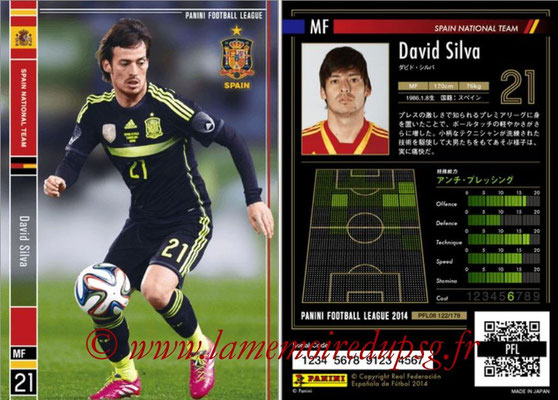Panini Football League 2014 - PFL08 - N° 122 - David SILVA (Espagne)