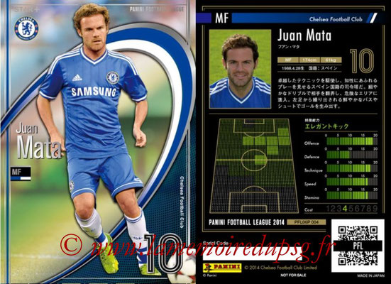 Panini Football League 2014 - PFL06P - N° 004 - Juan MATA (Chelsea FC) (Star +)