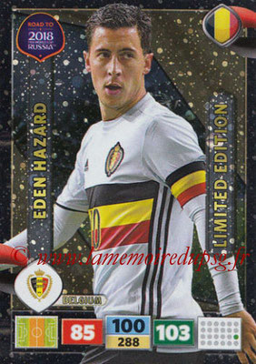 2018 - Panini Road to FIFA World Cup Russia Adrenalyn XL - N° LE-EH - Eden HAZARD (Belgique) (Limited Edition)