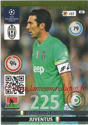 2014-15 - Adrenalyn XL champions League N° 267 - Gianluigi BUFFON (Juventus) ( Fans' Favourite)