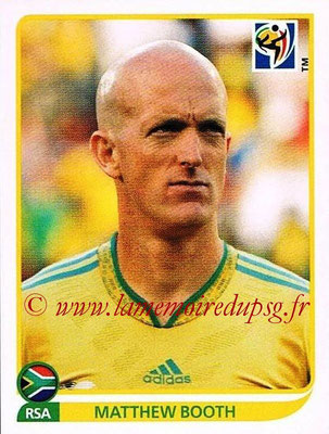 2010 - Panini FIFA World Cup South Africa Stickers - N° 035 - Matthew BOOTH (Afrique du Sud)