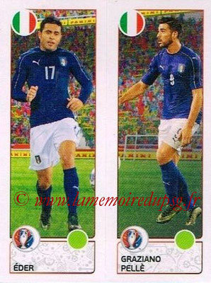 Panini Euro 2016 Stickers - N° 496 - EDER + Graziano PELLE (Italie)
