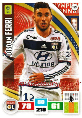 2016-17 - Panini Adrenalyn XL Ligue 1 - N° 159 - Jordan FERRI (Lyon)