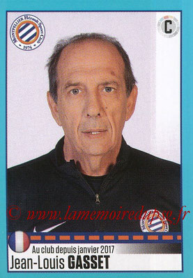 2016-17 - Panini Ligue 1 Stickers - N° T29 - Jean-Louis GASSET (Entraîneur Montpellier) (Set Transfert)
