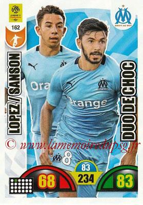 2018-19 - Panini Adrenalyn XL Ligue 1 - N° 162 - Morgan SANSON + Maxime LOPEZ (Marseille) (Duo de Choc)