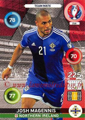 Panini Euro 2016 Cards - N° 216 - Josh MAGENNIS (Irlande du Nord)