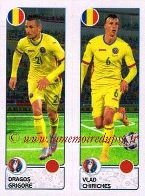 Panini Euro 2016 Stickers - N° 045 - Dragos GRIGORE + Vlad CHIRICHES (Roumanie)