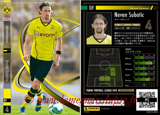 Panini Football League 2014 - PFL08 - N° 089 - Neven SUBOTIC (Borussia Dortmund) (Star)