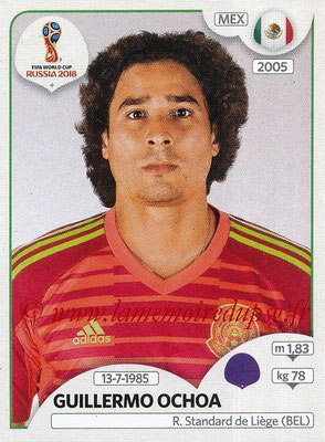 2018 - Panini FIFA World Cup Russia Stickers - N° 454 - Guillermo OCHOA (Mexique)
