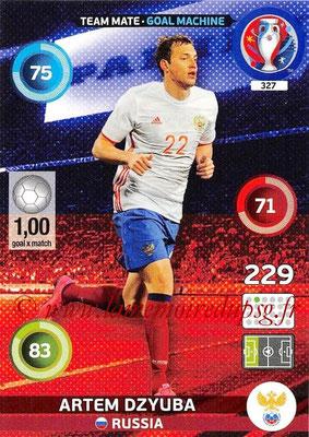Panini Euro 2016 Cards - N° 327 - Artem DZYUBA (Russie) (Goal Machine)