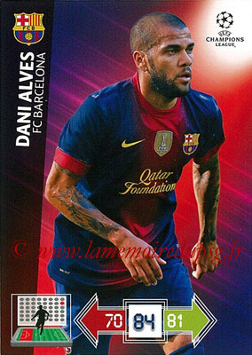 2012-13 - Adrenalyn XL champions League N° 027 - Dani ALVES (FC Barcelone
