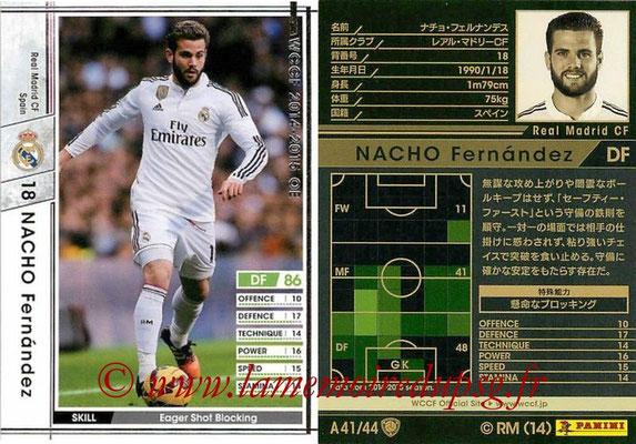2013-14 - WCCF - N° A41 - NACHO Fernandez (Real Madrid CF)