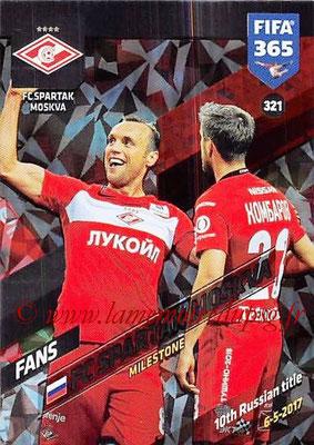 2017-18 - Panini FIFA 365 Cards - N° 321 - Célébration Spartak Moscou (Milestone)