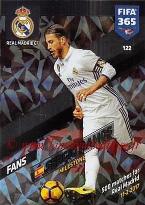 2017-18 - Panini FIFA 365 Cards - N° 122 - Sergio RAMOS (Real Madrid CF) (Milestone)