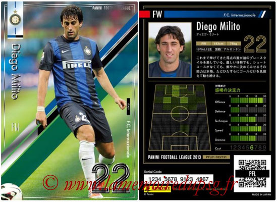 Panini Football League 2013 - PFL01 - N° 033 - Diego Milito ( F.C. Internazionale )