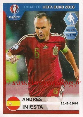 Panini Road to Euro 2016 Stickers - N° 090 - Andres INIESTA (Espagne)
