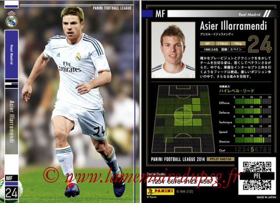 Panini Football League 2014 - PFL07 - N° 046 - Asier ILLARRAMENDI (Real Madrid)
