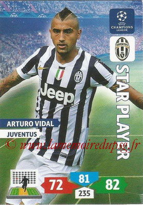 2013-14 - Adrenalyn XL champions League N° 151 - Arturo VIDAL (Juventus) FC (Star Player)