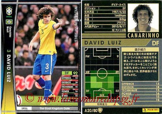 N° A20 - David LUIZ (2012-13, Brésil > 2014-??, PSG)