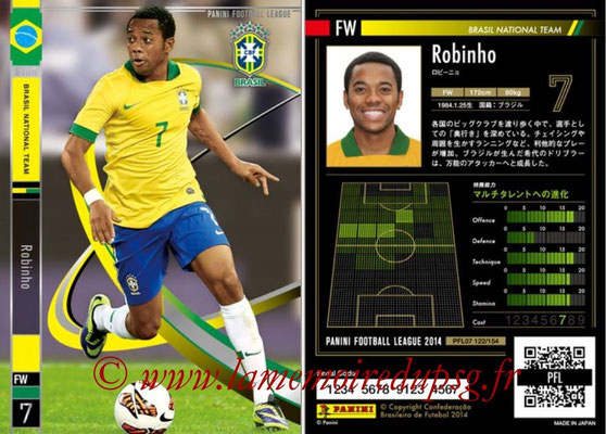 Panini Football League 2014 - PFL07 - N° 122 - ROBINHO (Bresil) (Star)