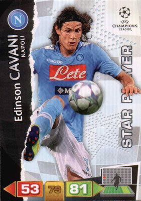 2011-12 - Panini Champions League Cards - N° 182 - Edinson CAVANI (Naples) (Star Player)