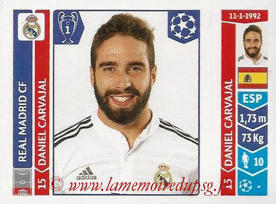 2014-15 - Panini Champions League N° 110 - Daniel CARVAJAL (Real Madrid FC)