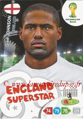 2014 - Panini FIFA World Cup Brazil Adrenalyn XL - N° 132 - Glen JOHNSON (Angleterre)