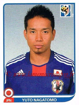 2010 - Panini FIFA World Cup South Africa Stickers - N° 380 - Yuto NAGATOMO (Japon)