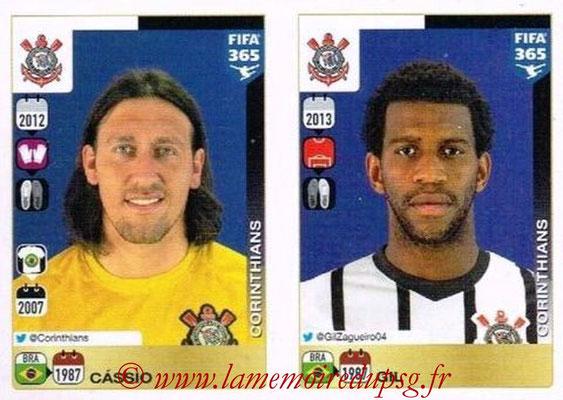 2015-16 - Panini FIFA 365 Stickers - N° 162-163 - CASSIO + GIL (SC Corinthians)