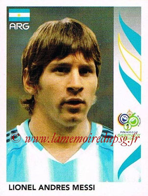 2006 - Panini FIFA World Cup Germany Stickers - N° 185 - Lionel Andres MESSI (Argentine)