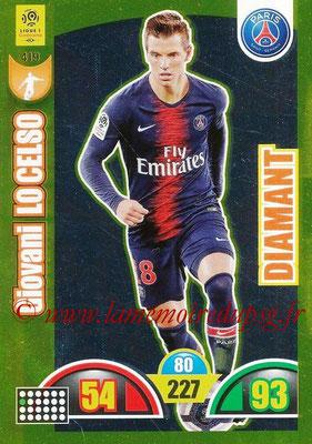 2018-19 - Panini Adrenalyn XL Ligue 1 - N° 419 - Giovani LO CELSO (Paris Saint-Germain) (Diamant)