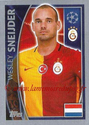 2015-16 - Topps UEFA Champions League Stickers - N° 198 - Wesley SNEIJDER (Galatasaray AS)