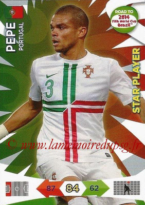 2014 - Panini Road to FIFA World Cup Brazil Adrenalyn XL - N° 151 - PEPE (Portugal) (Star Player)