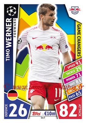 2017-18 - Topps UEFA Champions League Match Attax - N° GC07 - Timo WERNER (RB Leipzig) (Game Changers)