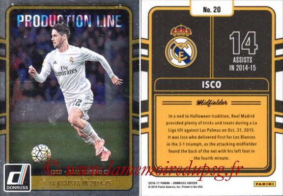 2016 - Panini Donruss Cards - N° PL20 - ISCO (Real Madrid CF) (Production Line)