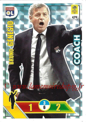 2017-18 - Panini Adrenalyn XL Ligue 1 - N° 479 - Bruno GENESIO (Lyon) (Coach)