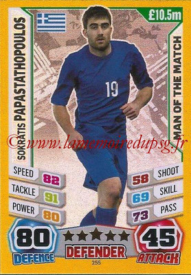 Topps Match Attax England 2014 - N° 255 - Sokratis PAPASTATHOPOULOS (Grèce) (Man Of The Match)