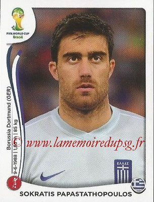 2014 - Panini FIFA World Cup Brazil Stickers - N° 207 - Sokratis PAPASTATHOPOULOS (Grèce)