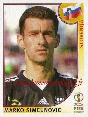 2002 - Panini FIFA World Cup Stickers - N° 117 - Marko SIMEUNOVIC (Slovénie)