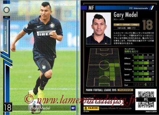 Panini Football League 2015 - PFL09 - N° 019 - Gary MEDEL (Inter)