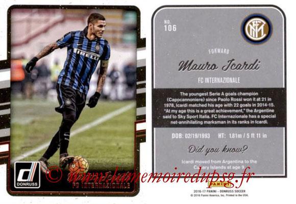 2016 - Panini Donruss Cards - N° 106 - Mauro ICARDI (FC Internazionale)