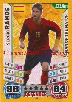 Topps Match Attax England 2014 - N° 264 - Sergio RAMOS (Espagne) (Man Of The Match)