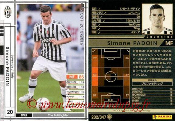 2015-16 - Panini WCCF - N° 202 - Simone PADOIN (Juventus FC)