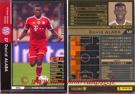 2013-14 - WCCF - N° 103 - David ALABA (FC Bayern Munich)