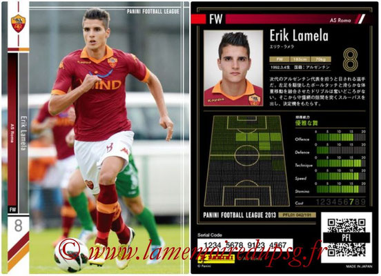 Panini Football League 2013 - PFL01 - N° 042 - Erik Lamela ( AS Roma )