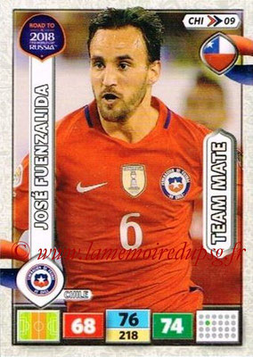 2018 - Panini Road to FIFA World Cup Russia Adrenalyn XL - N° CHI09 - Jose FUENZALIDA (Chili)