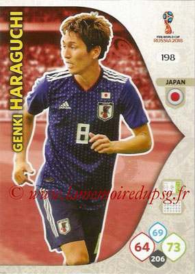 2018 - Panini FIFA World Cup Russia Adrenalyn XL - N° 198 - Genki HARAGUCHI (Japon)