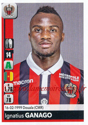 2018-19 - Panini Ligue 1 Stickers - N° 317 - Ignatius GANAGO (Nice)