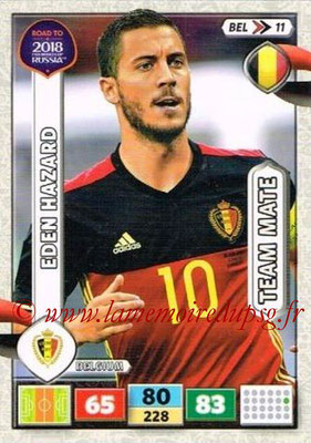 2018 - Panini Road to FIFA World Cup Russia Adrenalyn XL - N° BEL11 - Eden HAZARD (Belgique)